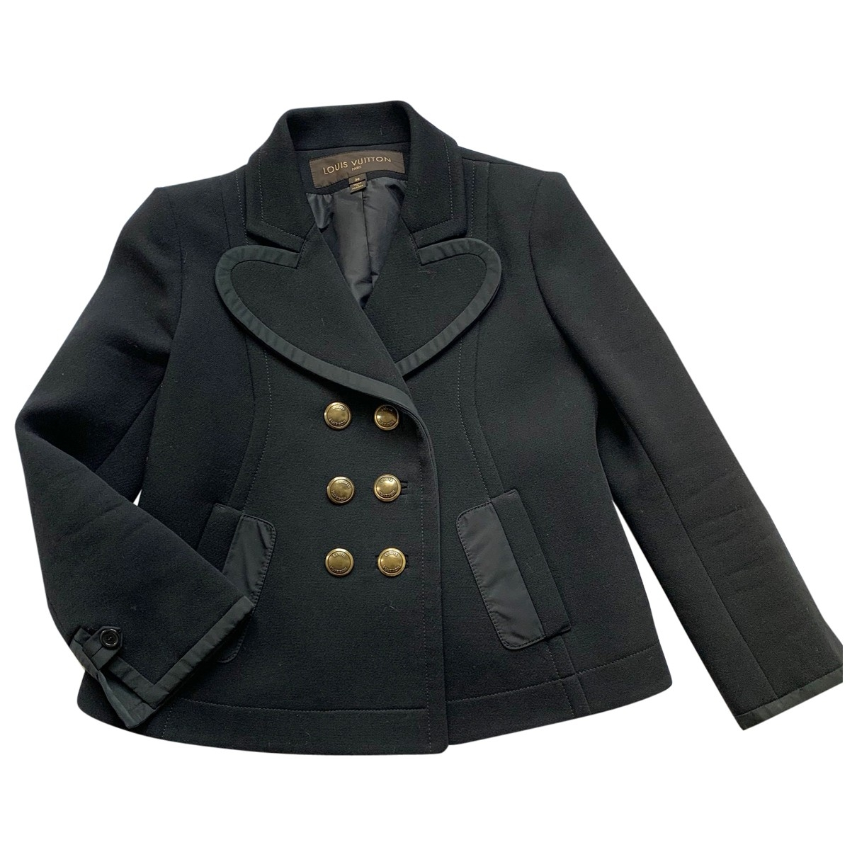Louis Vuitton \N Black Wool jacket for Women 36 FR