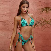 Glamaker Tropical Triangle Tie Side Bikini Swimsuit