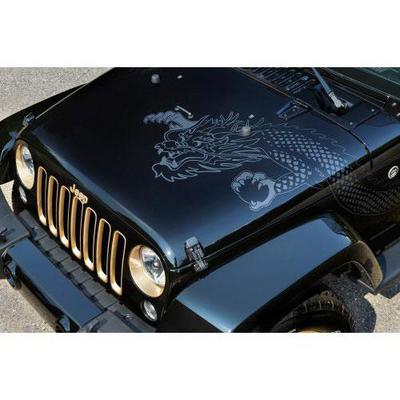 Jeep Hood Dragon Decal (Silver) - 5PC92HA9AA