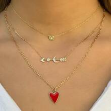 Heart Decor Layered Necklace