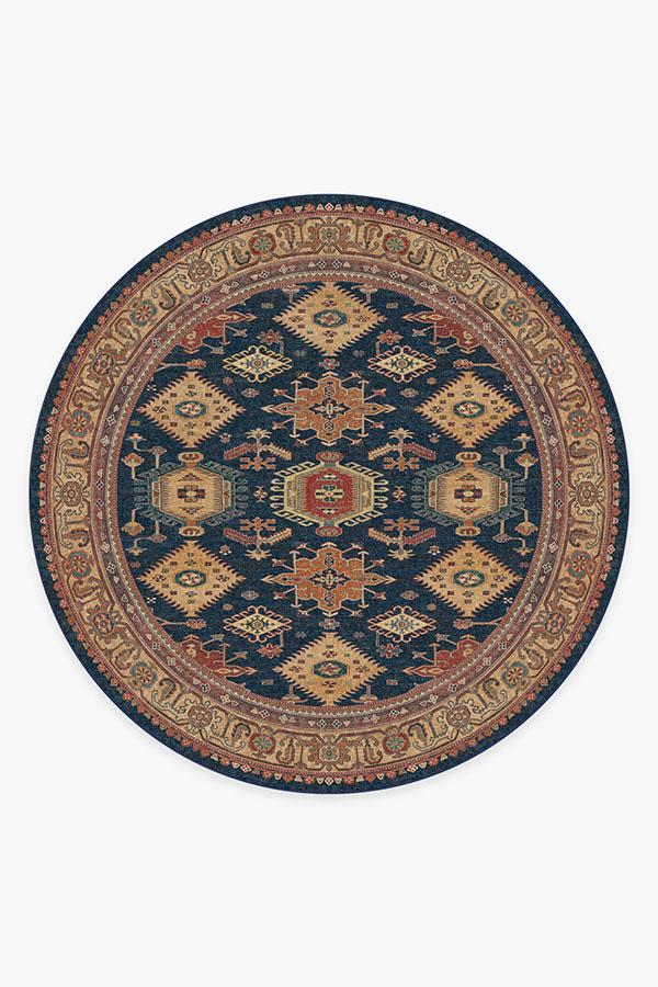 Washable Rug Cover | Cambria Sapphire Rug | Stain-Resistant | Ruggable | 8' Round