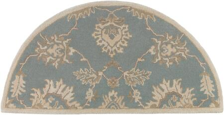 Caesar CAE-1156 2' x 4' Hearth Traditional Rug in Medium Grey  Ivory  Olive