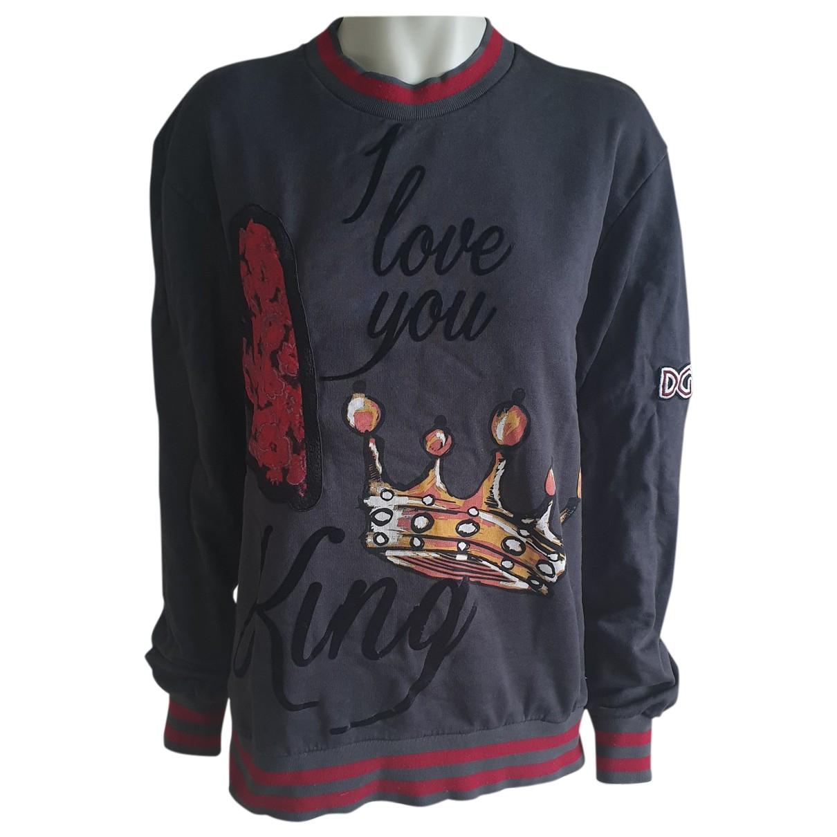 Dolce & Gabbana - Pull   pour femme en coton - anthracite