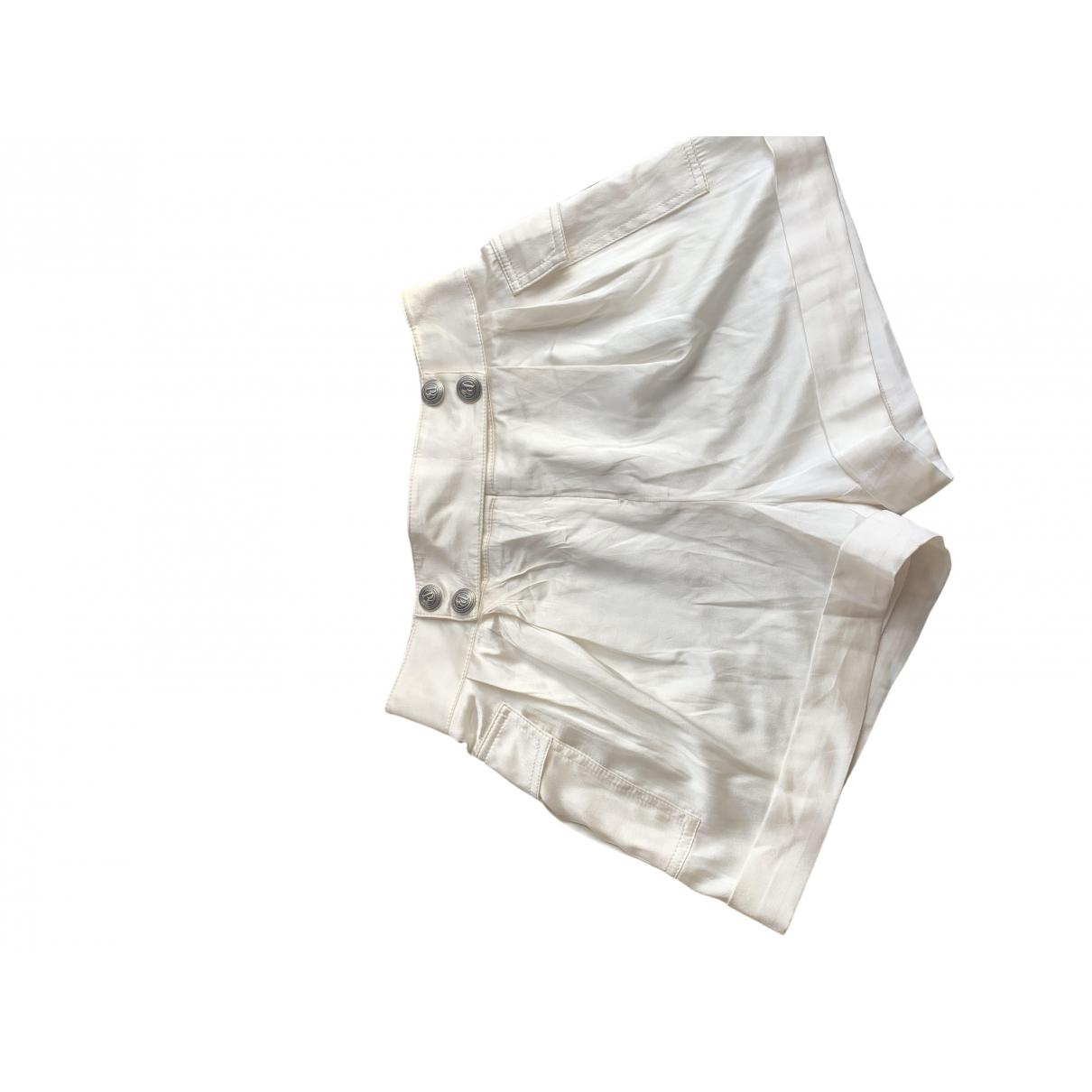 Pierre Balmain \N White Silk Shorts for Women 36 FR