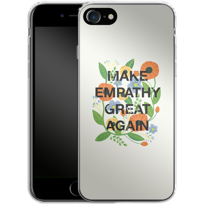 Apple iPhone 7 Silikon Handyhuelle - Make Empathy Great Again von Iisa Monttinen