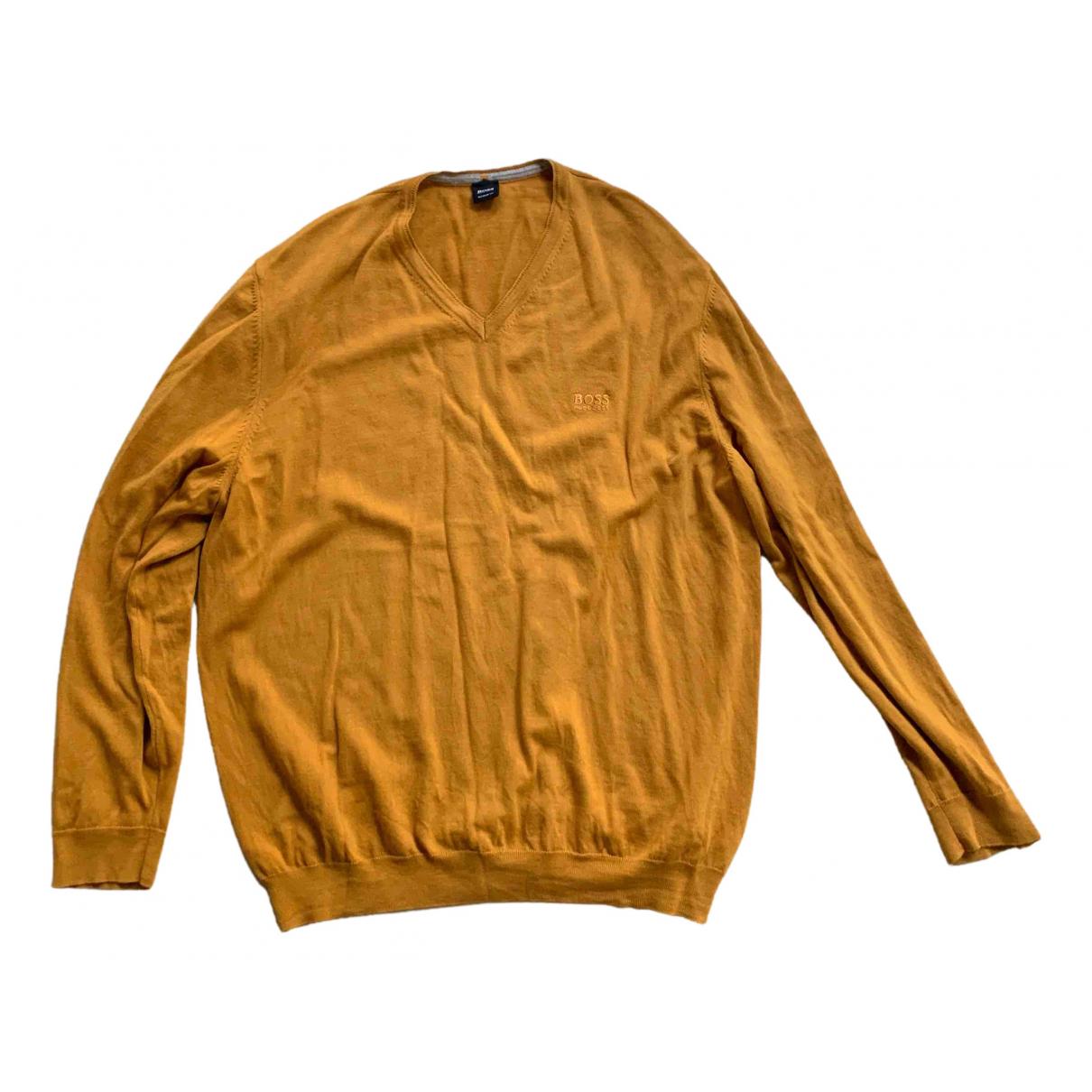 Hugo Boss \N Pullover.Westen.Sweatshirts  in  Kamel Wolle