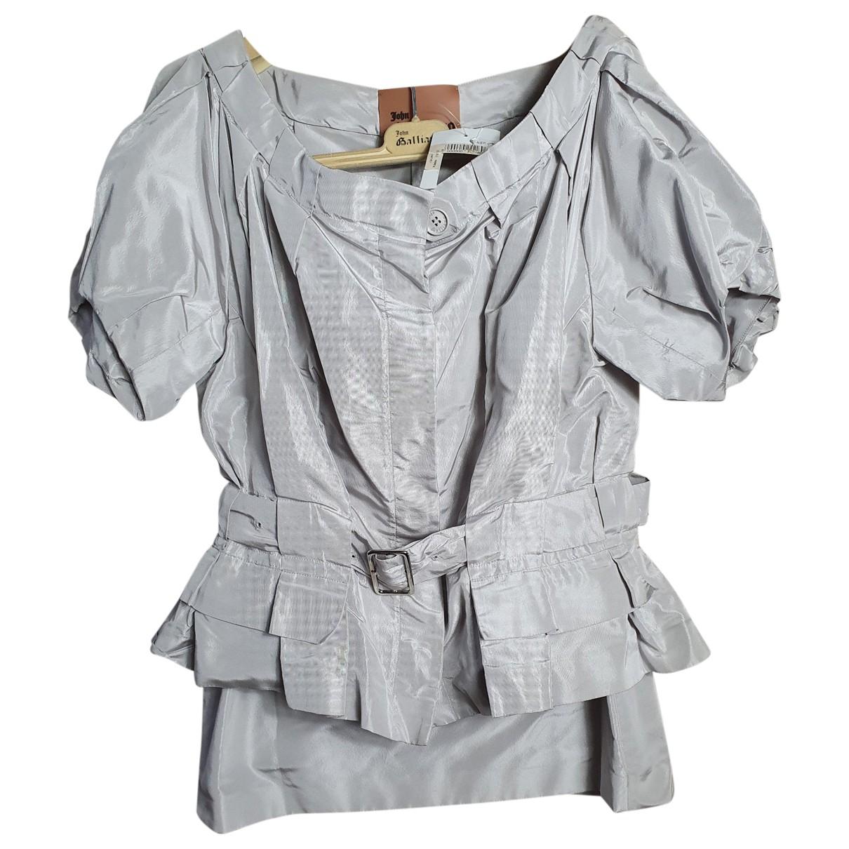 John Galliano \N Grey Silk dress for Women 40 FR
