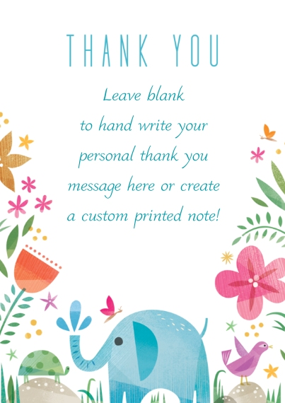 Kids Thank You Cards 5x7 Cards, Premium Cardstock 120lb with Rounded Corners, Card & Stationery -Happy Thank You