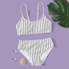 Bañador bikini de niñas de rayas