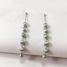 Ball Charm Drop Earrings
