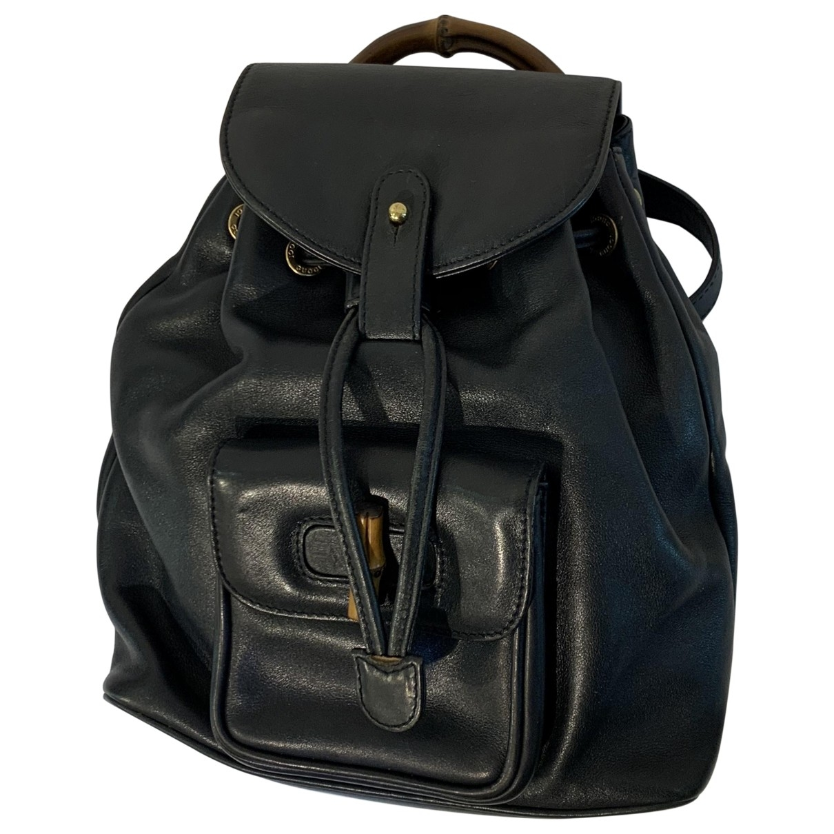 Gucci Bamboo Black Leather backpack for Women \N
