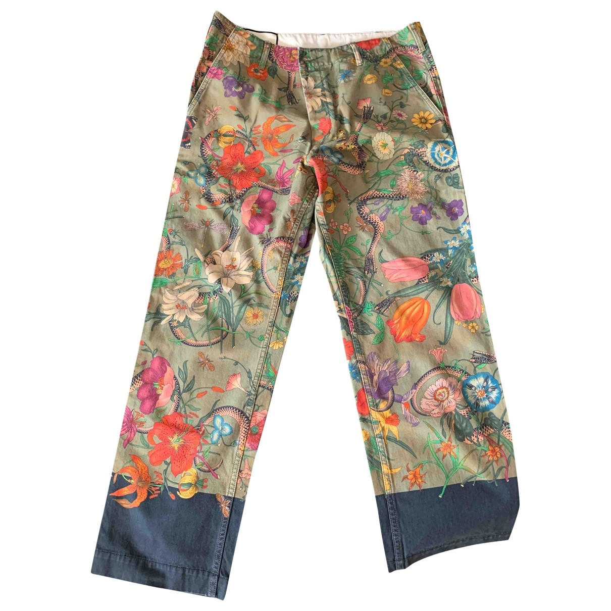 Gucci \N Multicolour Cotton Jeans for Men 36 US