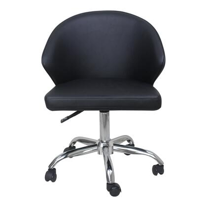Albus Collection UU-1015-02 Office Chair with Metal Legs in Black