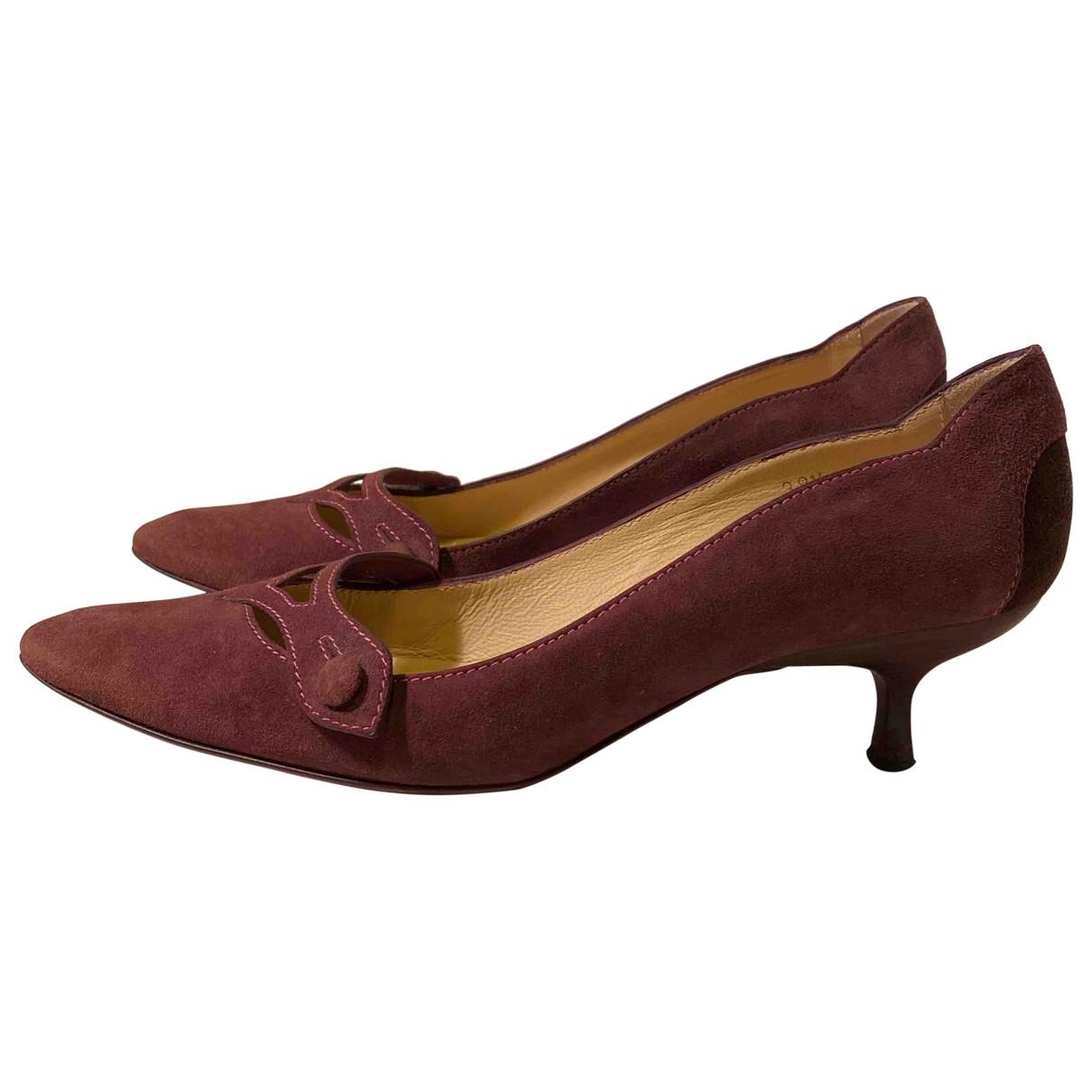 Tods - Escarpins   pour femme en suede - violet