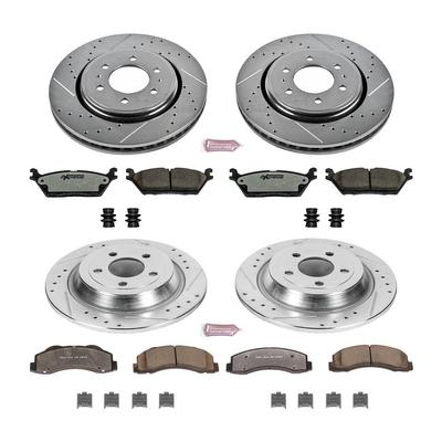 Power Stop Z36 Severe-Duty Truck & Tow 1-Click Front and Rear Brake Kit - K6803-36