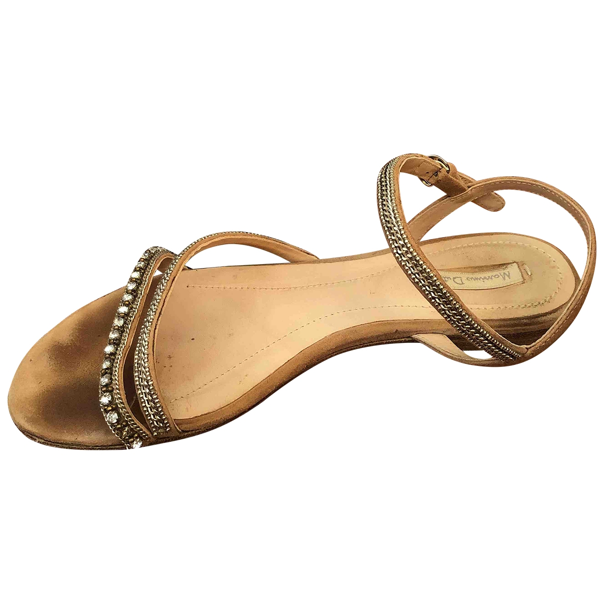 Massimo Dutti \N Beige Suede Sandals for Women 39 EU