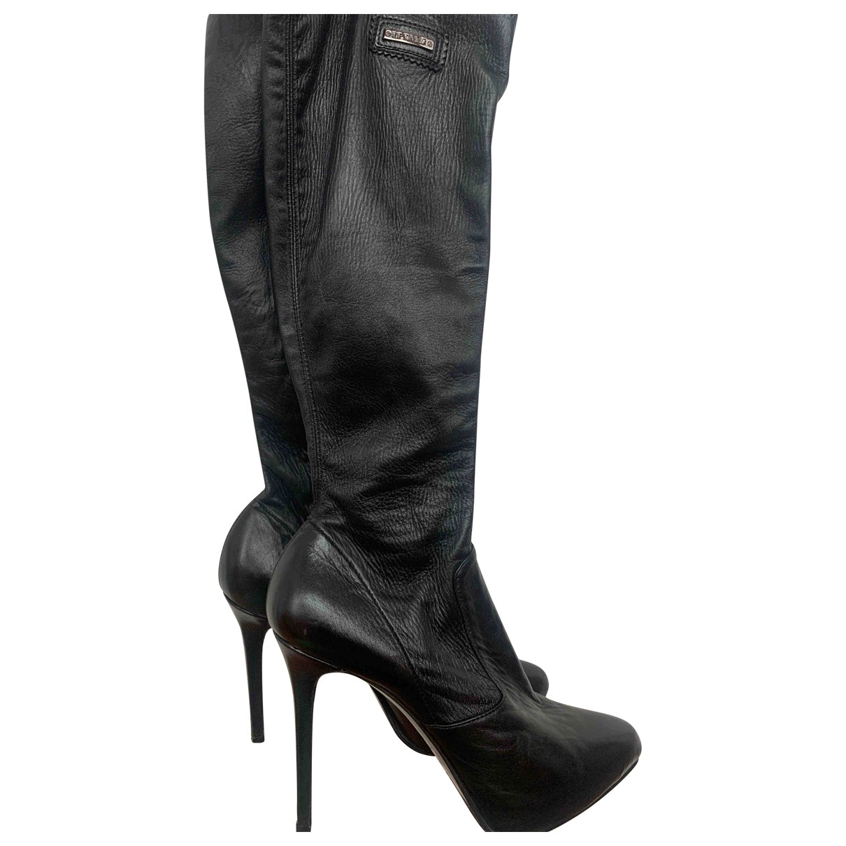 Le Silla \N Stiefel in  Schwarz Leder