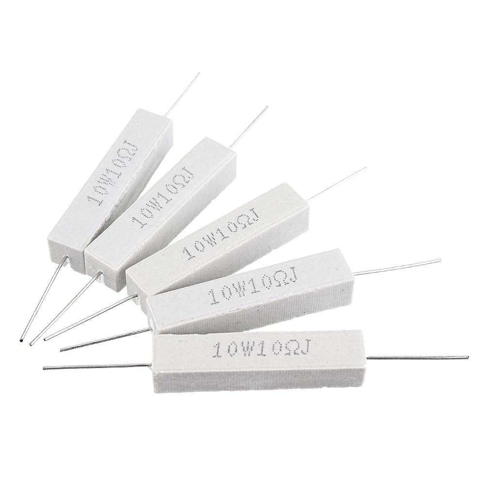 10pcs 10W 10 ohm 10R Ceramic Cement Resistor