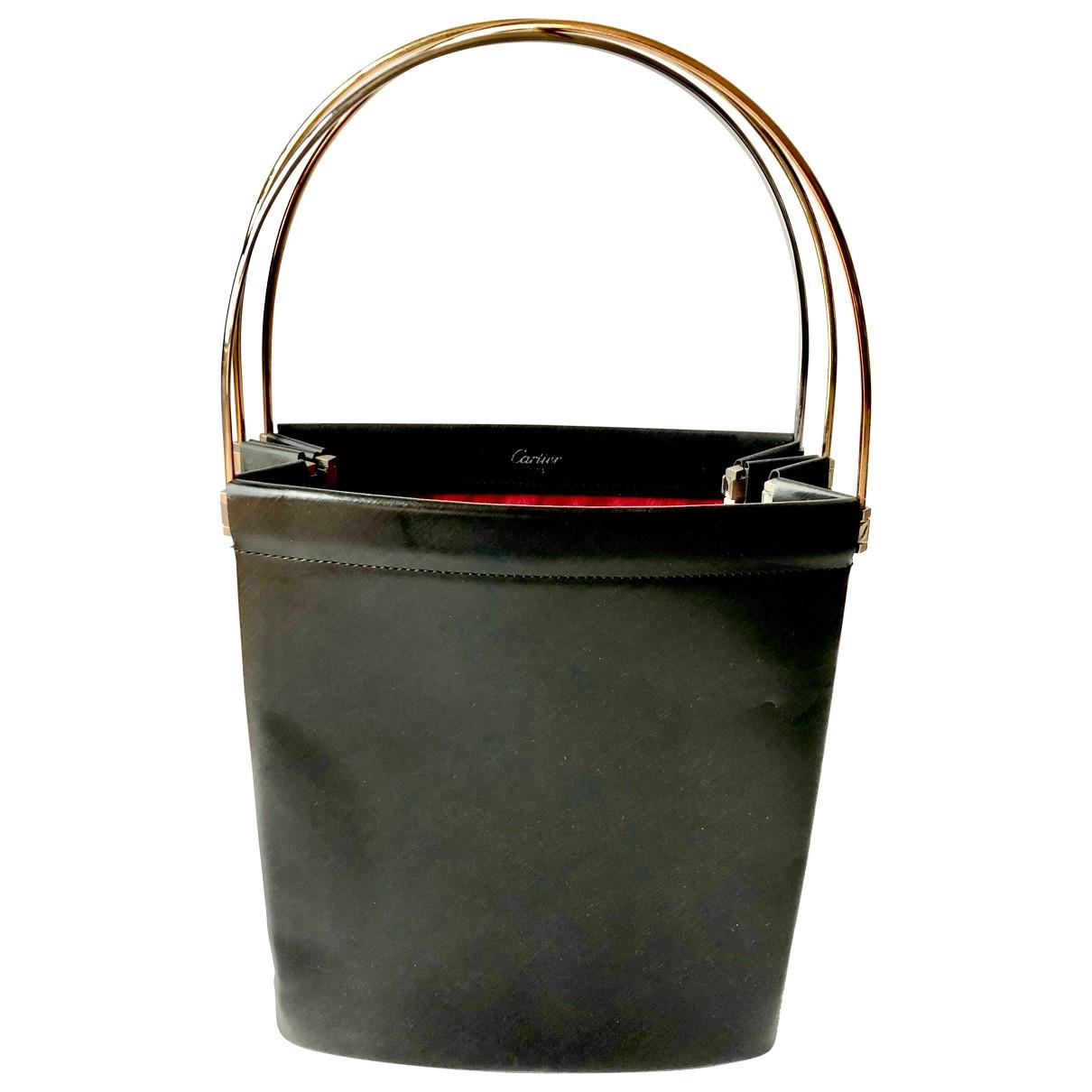 Cartier - Sac a main Trinity pour femme en cuir - noir