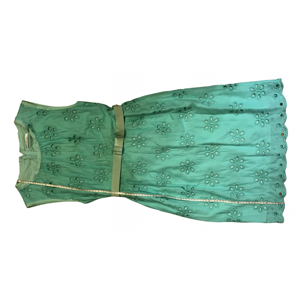 Marella N Green Cotton dress for Women 44 IT