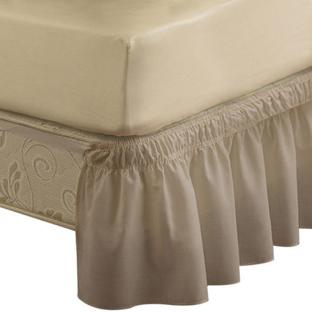 EasyFit Wrap-Around Solid Ruffled Bedskirt, One Size , Brown