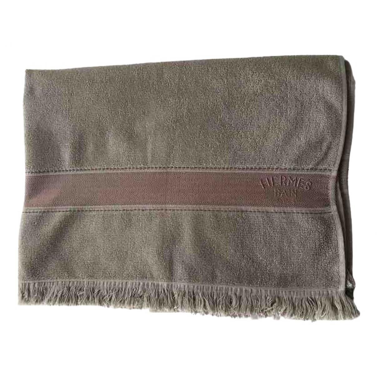 Hermes - Linge de maison   pour lifestyle en coton - beige
