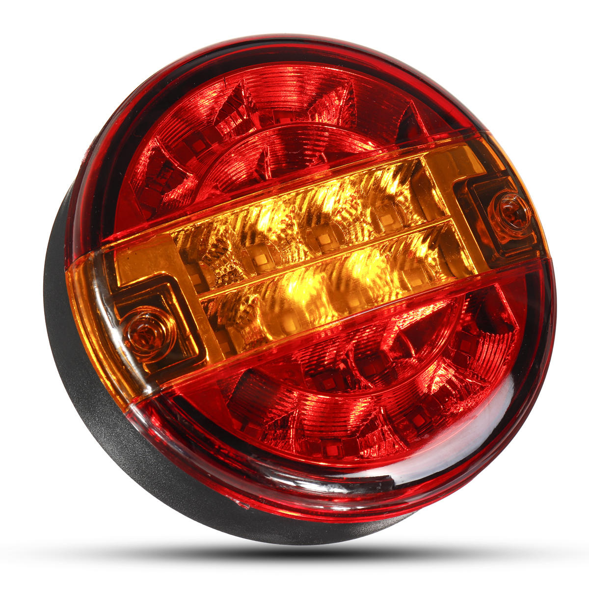 12V 24V Car Rear LED Tail Light Brake Stop Turn Signal Lamp Round Hamburger For Lorry Truck Car Van Trailer