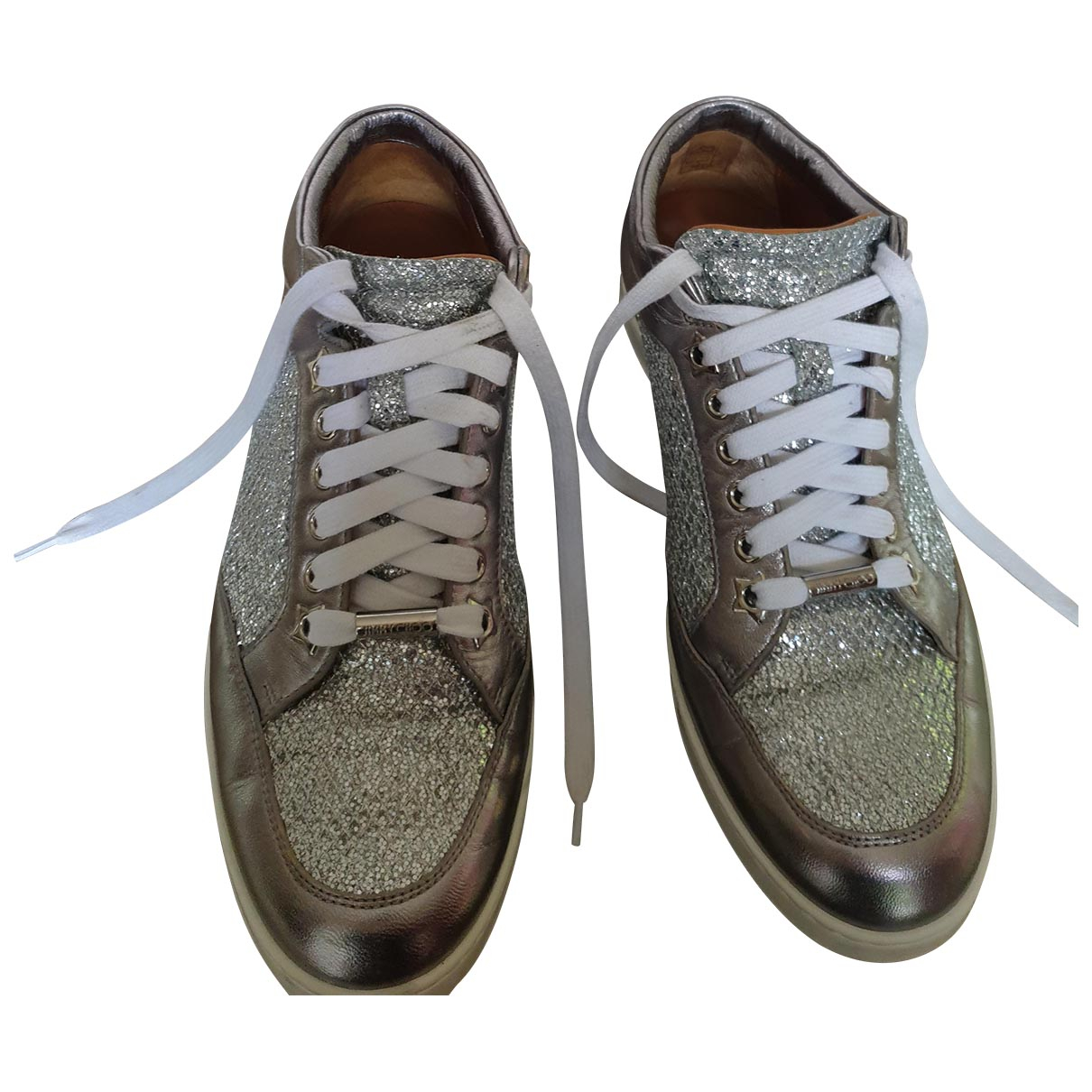 Jimmy Choo \N Silver Leather Trainers for Women 37.5 EU