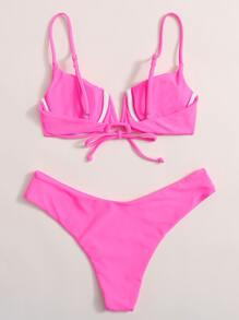 V Wired Underwire Bikini Swimsuit