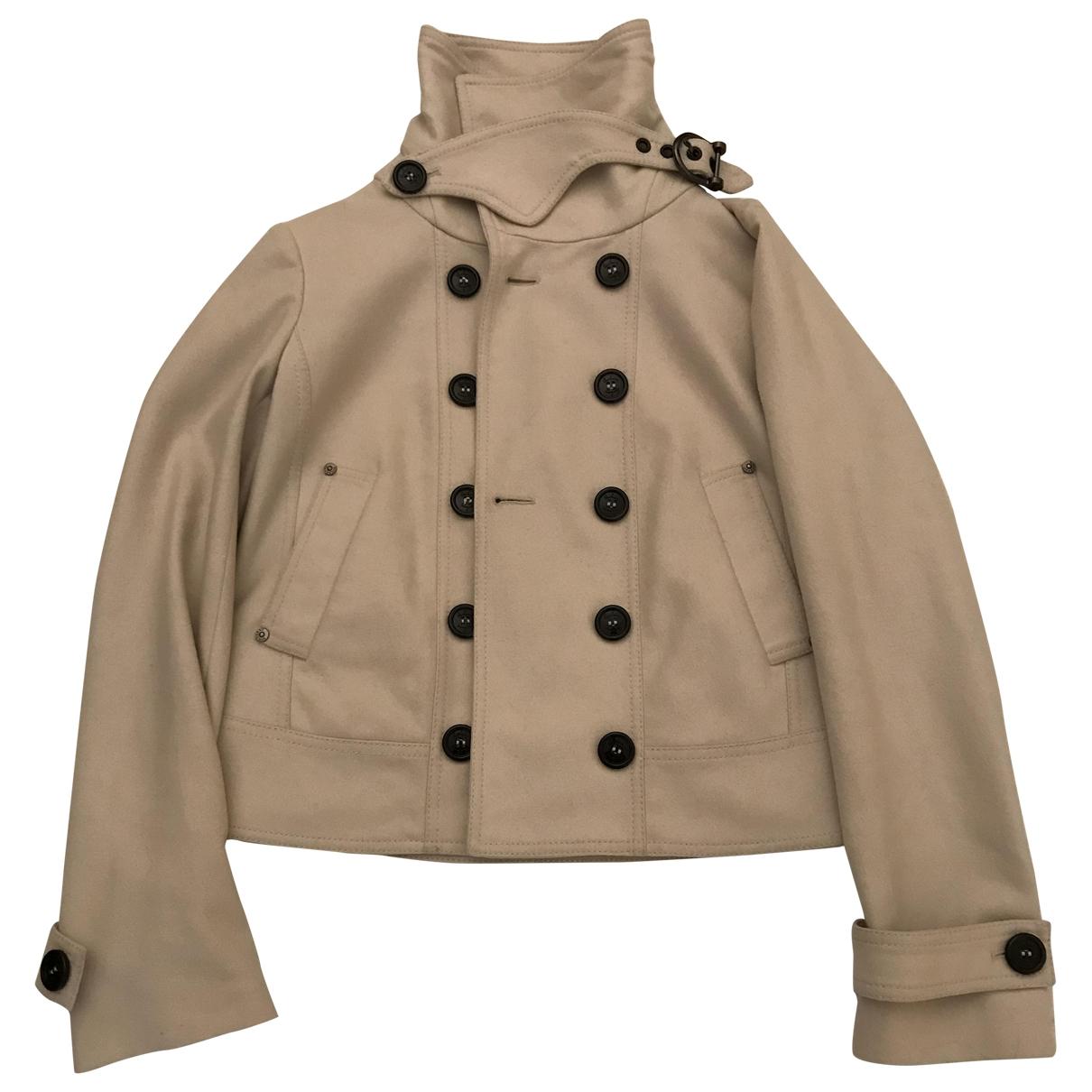 Burberry - Veste   pour femme en laine - ecru
