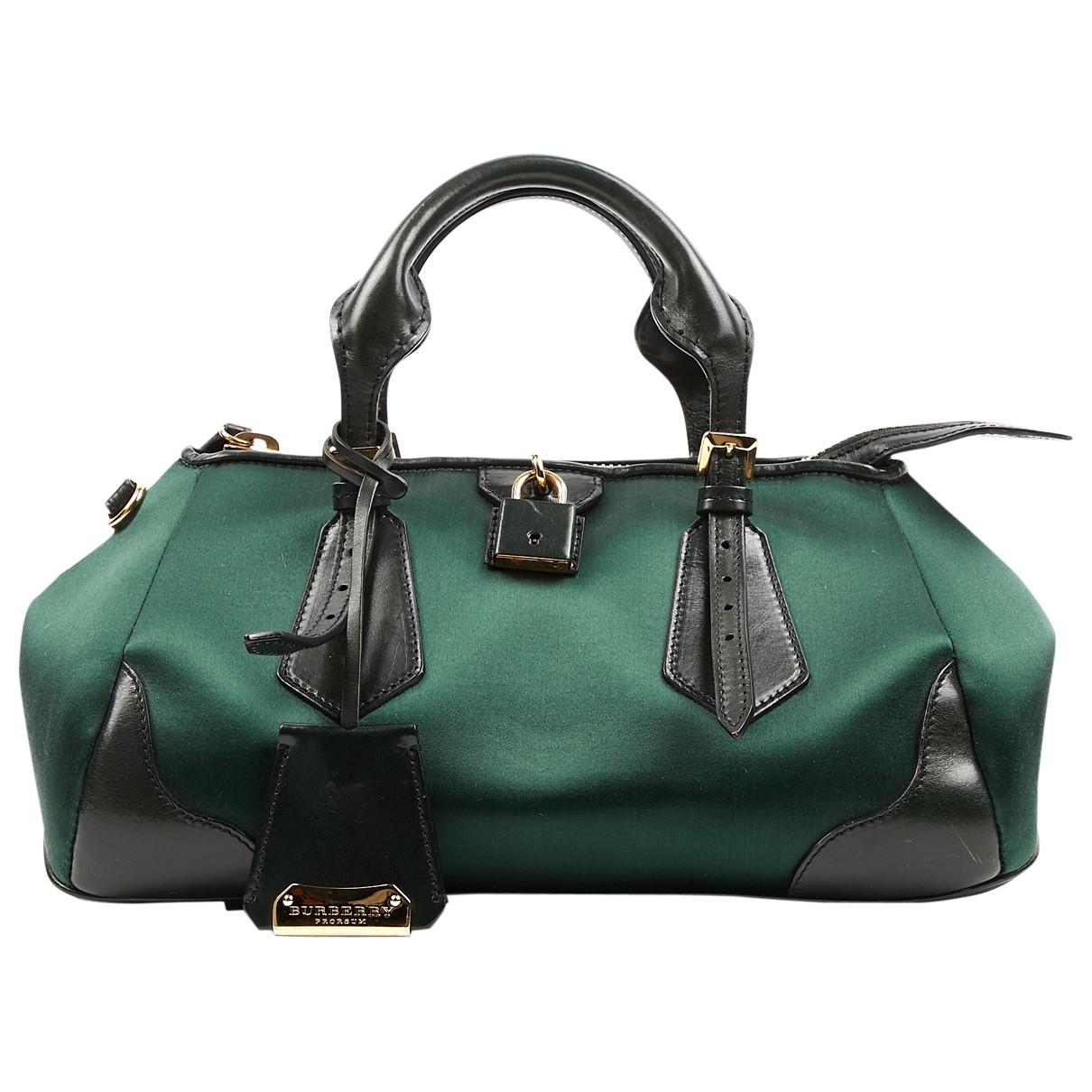 Burberry \N Green Cloth handbag for Women \N
