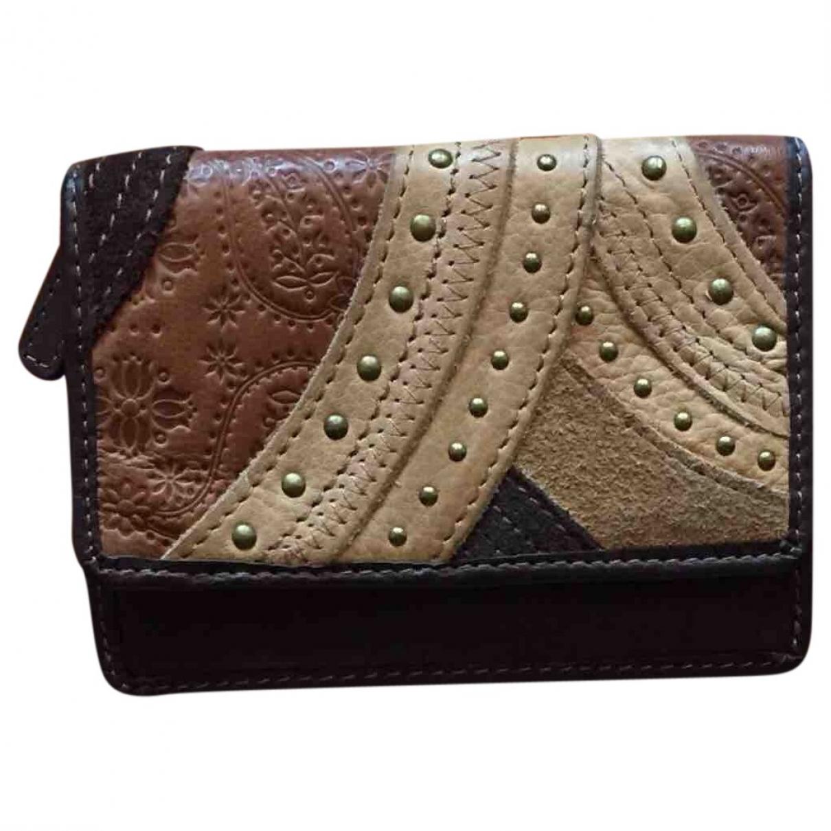 Fossil \N Portemonnaie in  Braun Leder
