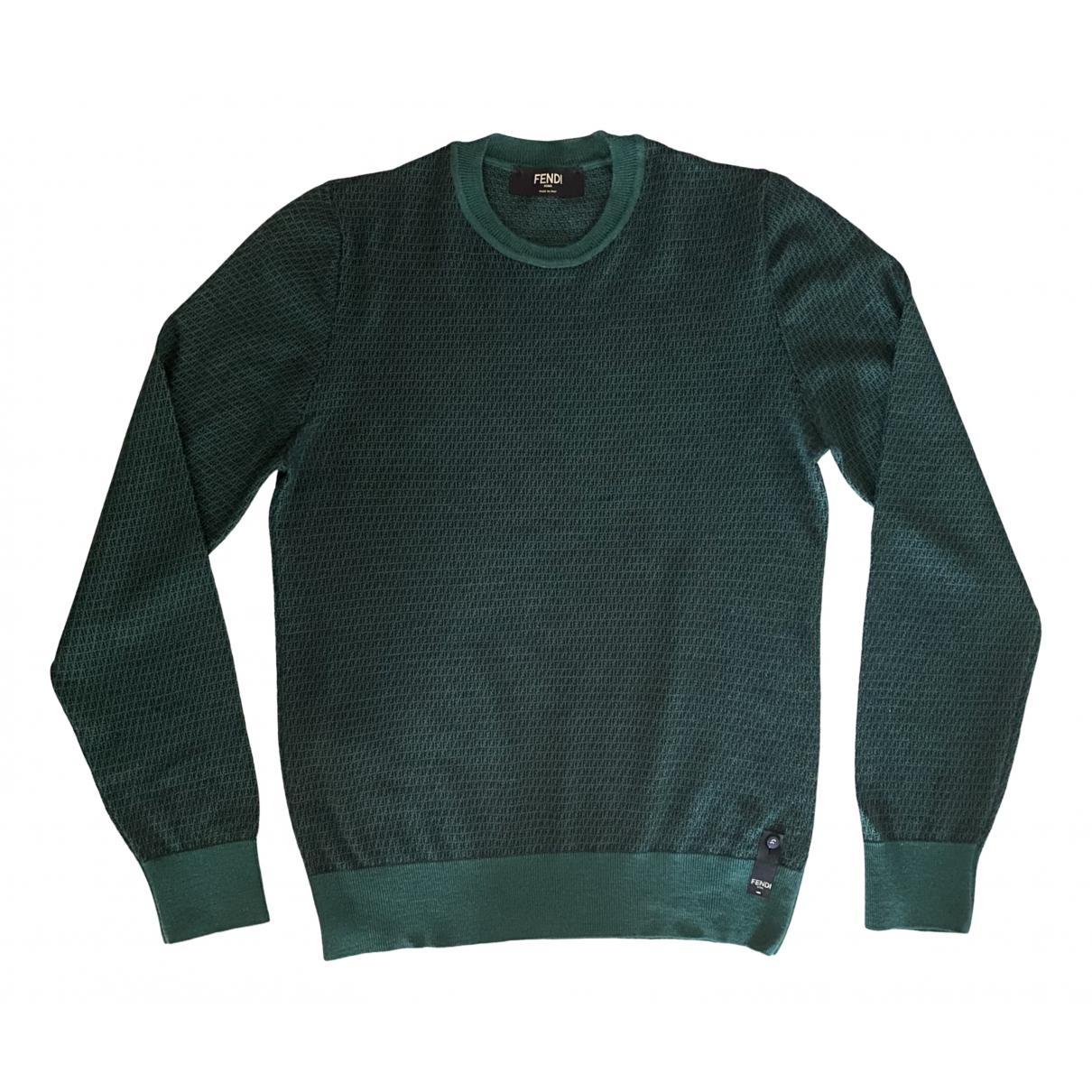 Fendi - Pulls.Gilets.Sweats   pour homme en laine - vert