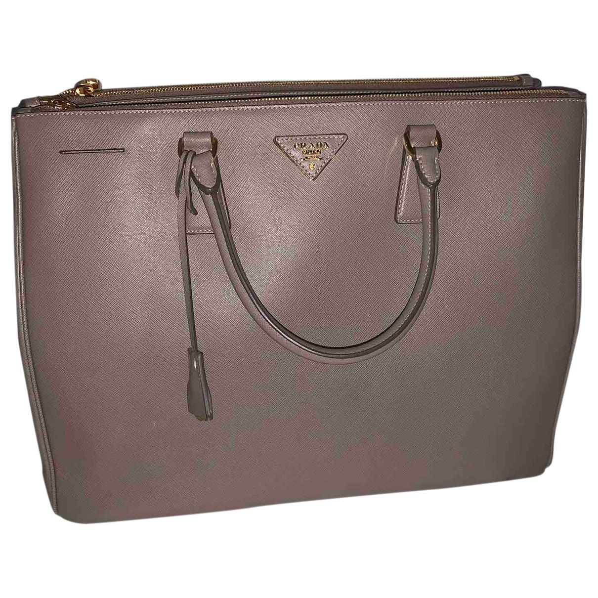 Prada Galleria Grey Leather handbag for Women \N