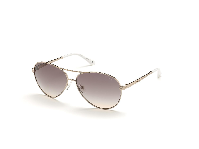 Guess Women's Gradient Gu7470 GU7470-S-28E-60 Gold Round Sunglasses