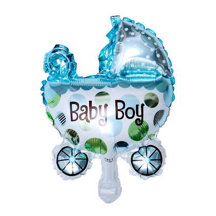 Foil Balloon Mini Baby Boy Buggy Mylar Helium Balloon Party Decor, 17
