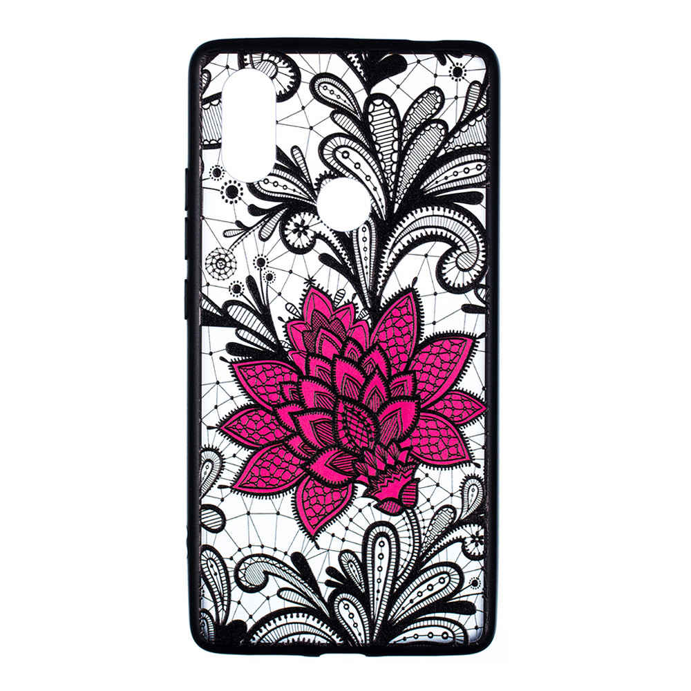 Emboss Flower Phone Case for Xiaomi Mi8 SE Protective Air Shell TPU Back Cover - Transparent
