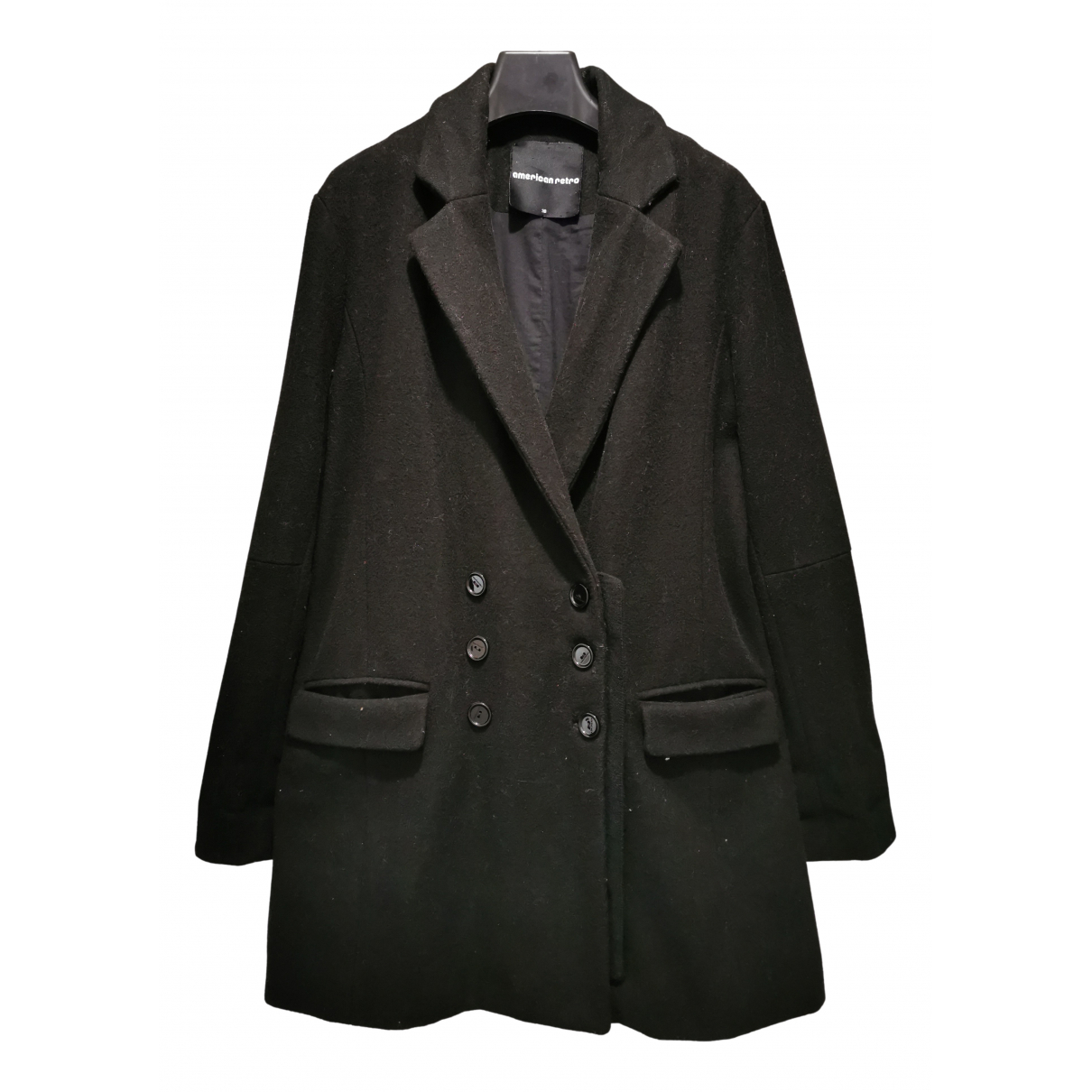 American Retro N Black Wool coat for Women 38 FR