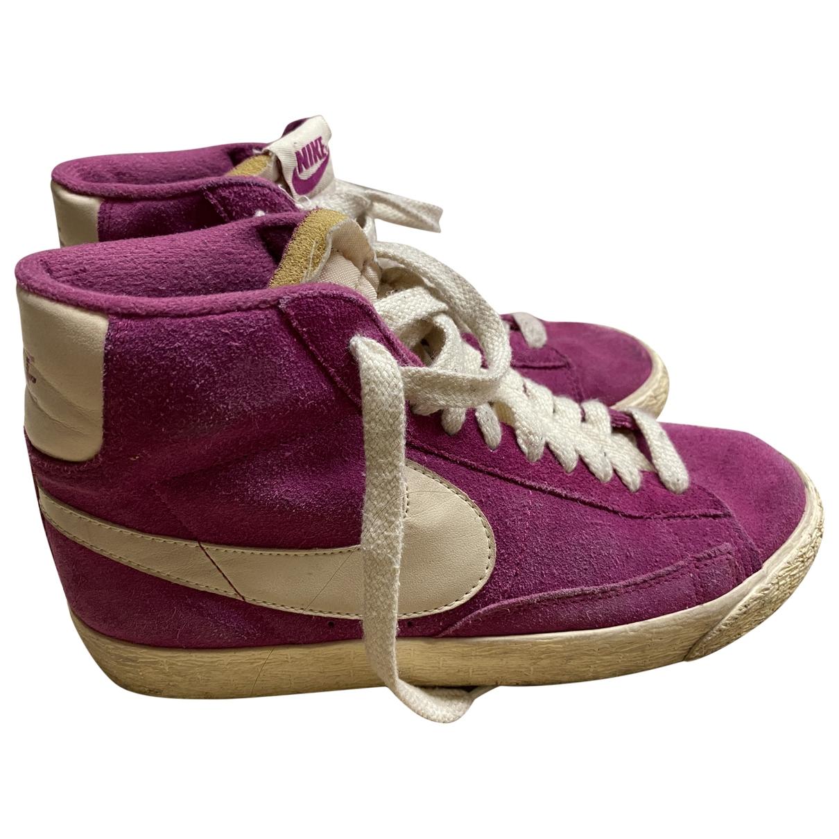 Nike - Baskets Blazer pour femme en suede - rose