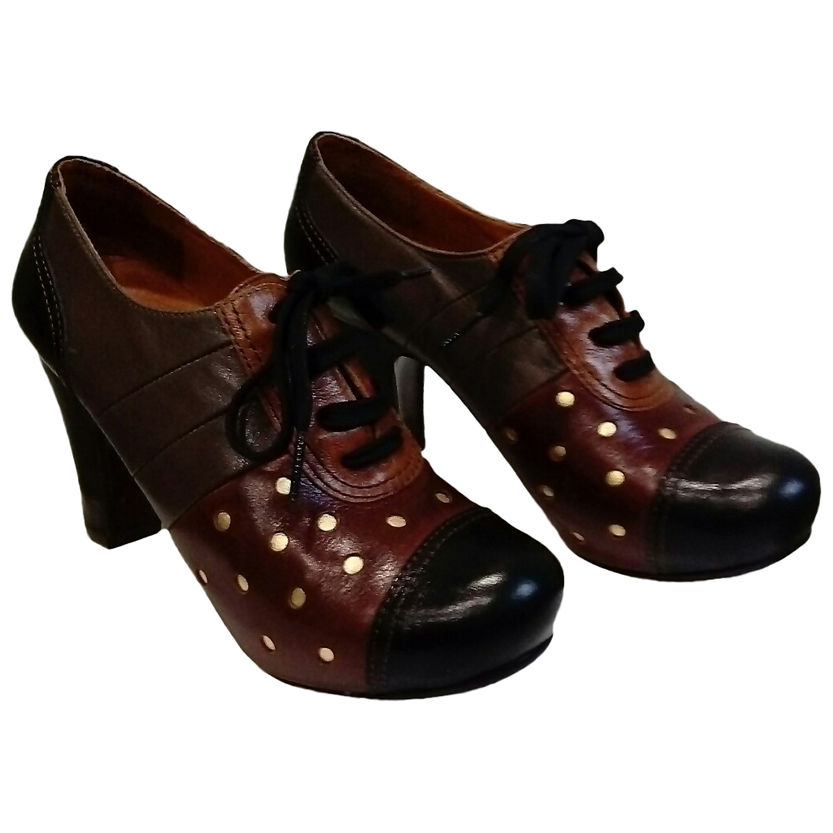 Chie Mihara \N Multicolour Leather Lace ups for Women 38 EU