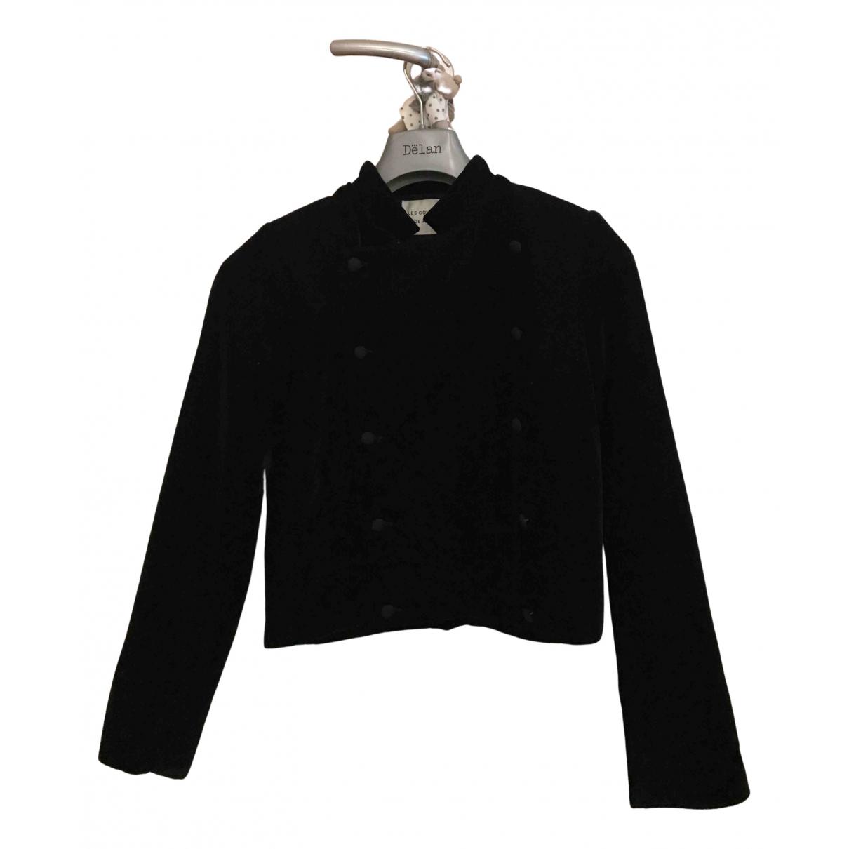 Les Coyotes De Paris N Black Velvet jacket for Women 36 IT
