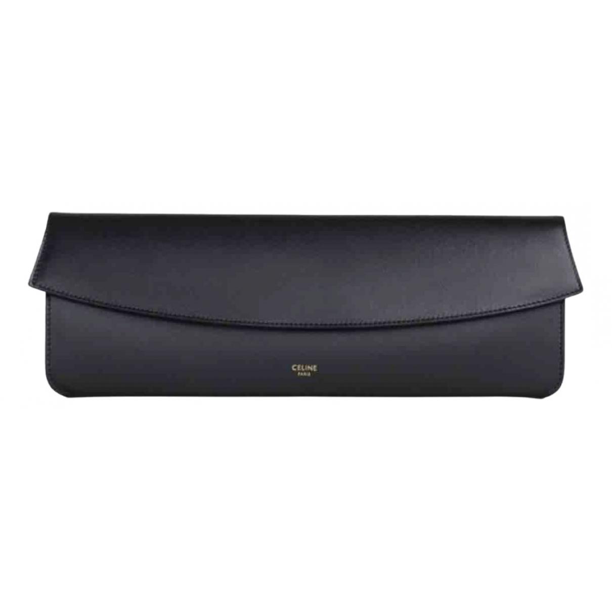 Celine \N Black Leather Clutch bag for Women \N