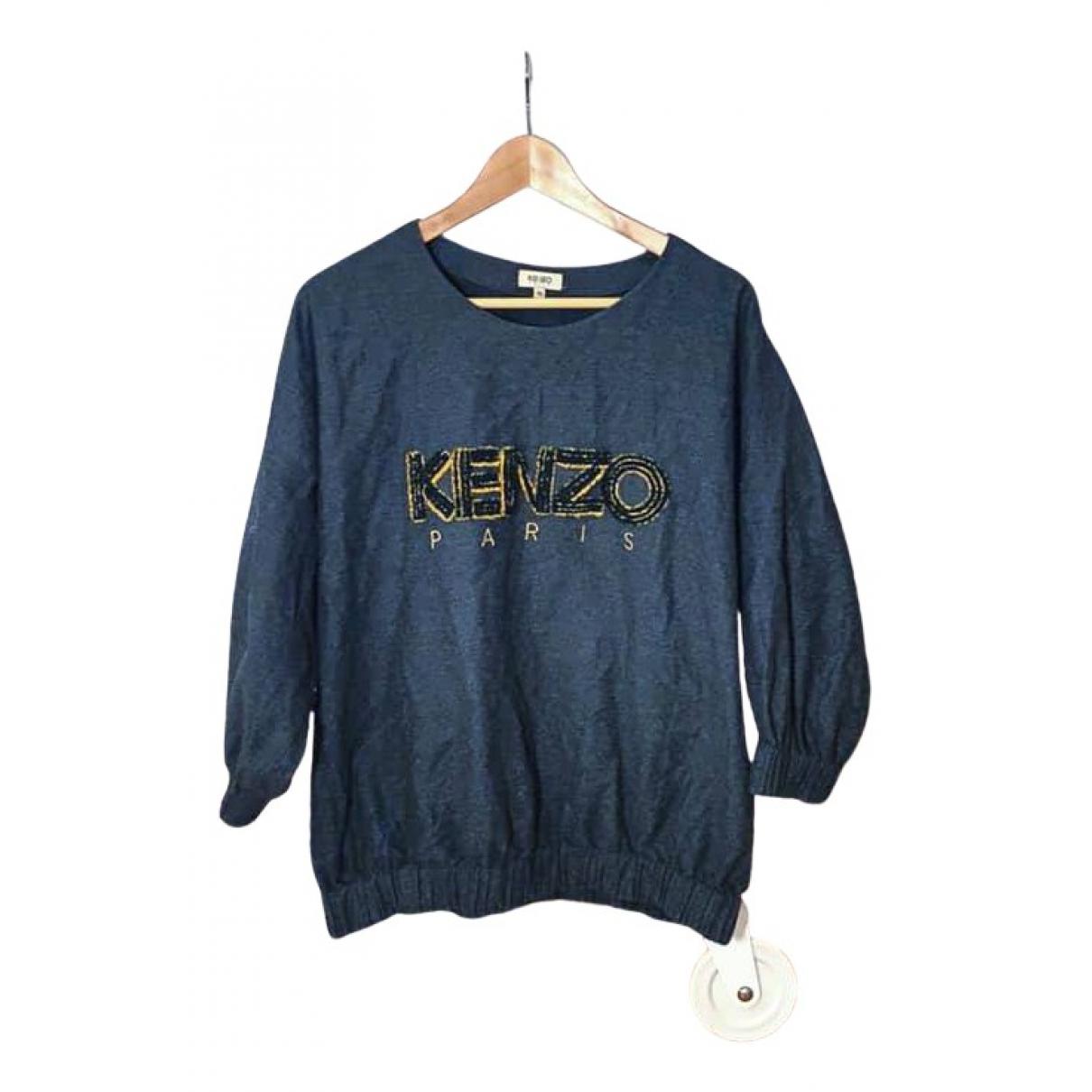 Kenzo - Top   pour femme en coton - gris
