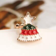 Ohrstulpe mit Weihnachtsbaum Design