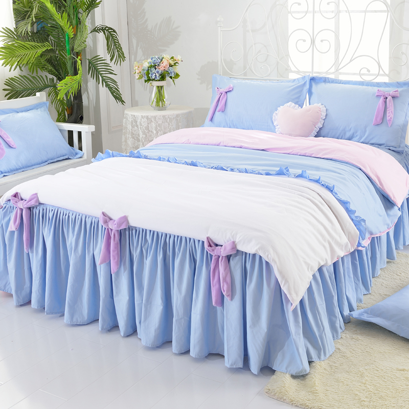 Princess Style Bowtie Design Polyester 4-Piece Bedding Sets