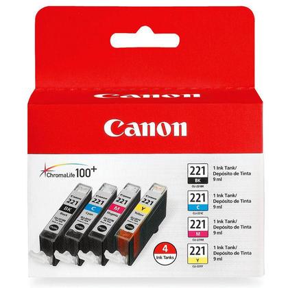 Canon PIXMA IP4600 Canon CLI221 2946B017 cartouche dencre e combo BK/C/M/Y