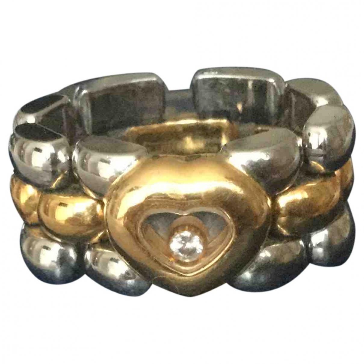 Chopard - Bague Happy Diamonds pour femme en or jaune - argente