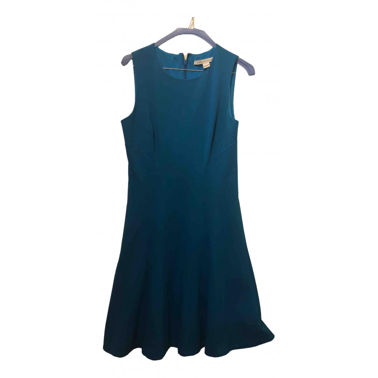 Diane Von Furstenberg \N Kleid in  Tuerkis Viskose