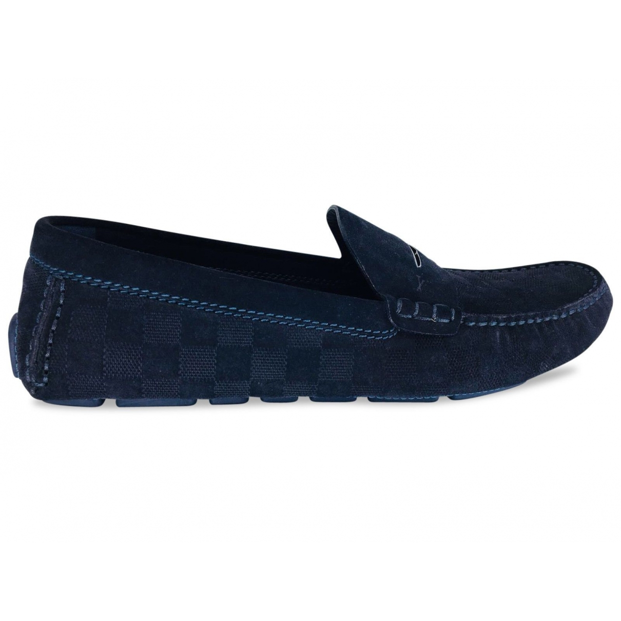 Louis Vuitton \N Navy Suede Flats for Men 11 UK