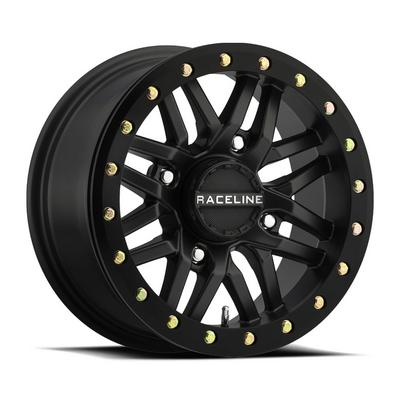 Raceline A91B Ryno UTV Wheel, 14x7 with 4 on 137 Bolt Pattern - Satin Black - A91B-47037-52